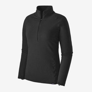 Zip-Neck Thermal Weight Black Capilene Baselayer M